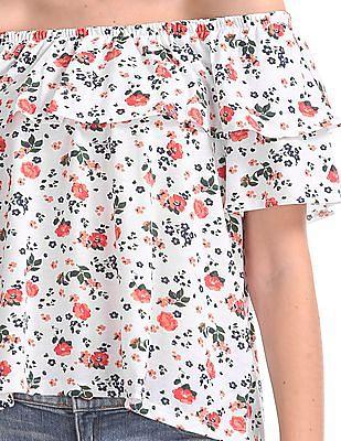 SUGR Floral Printed Off-Shoulder Top