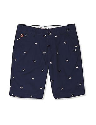 U.S. Polo Assn. Kids Boys Flat Front Printed Shorts