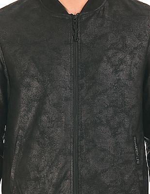 Ed Hardy Distressed Coated Bomber Jacket