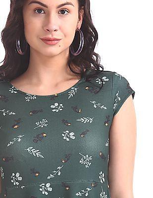 SUGR Floral Print Skater Dress