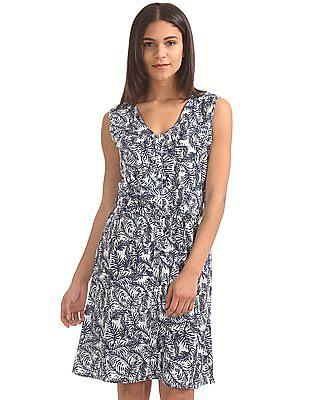 Cherokee Printed Belted Dress