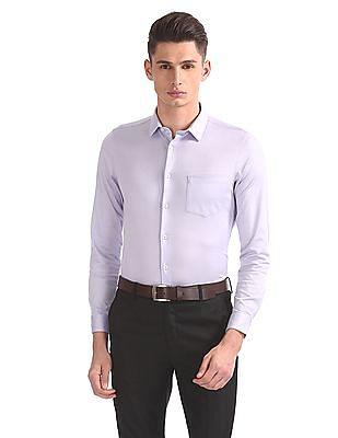 Arrow Slim Fit Solid Shirt