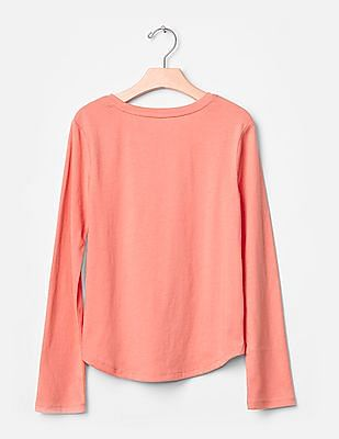 GAP Girls Pink Embellished Graphic Tee