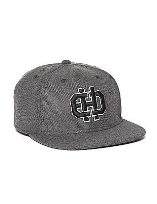 Ed Hardy Grey Embroidered Logo Flat Visor Cap