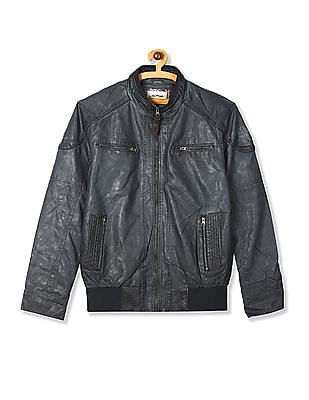Ed Hardy Stand Collar Textured Jacket