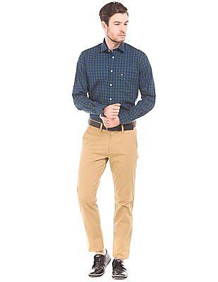 Arrow Sports Mid Rise Slim Fit Trousers