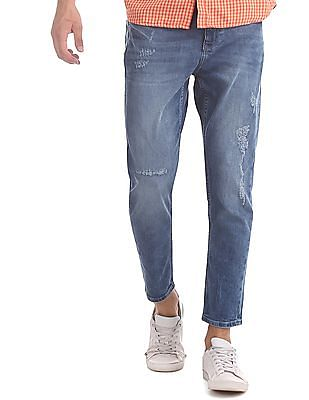 Flying Machine Blue MJ Mankle Slim Fit Washed Jeans
