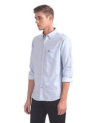 U.S. Polo Assn. Tailored Regular Fit Heathered Shirt