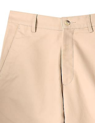 Arrow Flat Front Solid Trouser