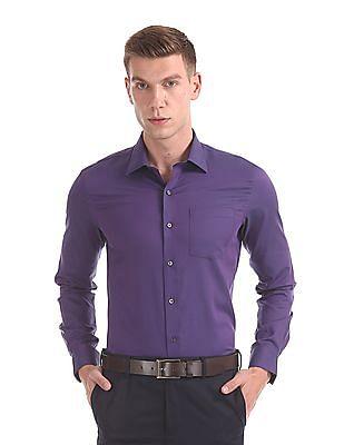 Arrow Slim Fit Tonal Pattern Shirt