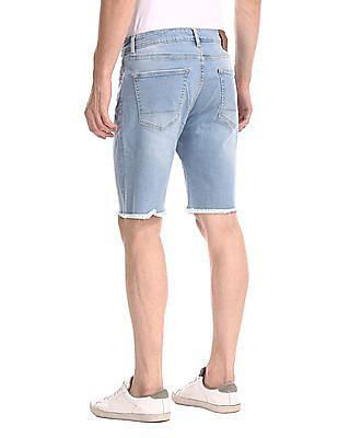Aeropostale Blue Washed Denim Shorts