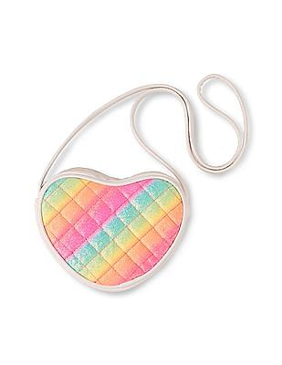 The Children's Place Girls Neon Glitter Heart Bag