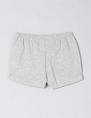 GAP Toddler Girl Upturned Hem Knit Shorts