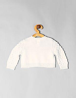 GAP White Baby Bobble Cardigan