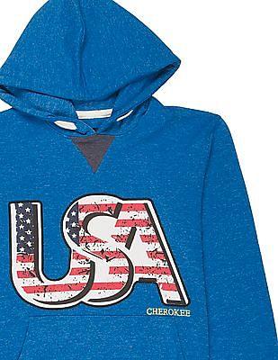 Cherokee Boys Appliqued Hooded Sweatshirt