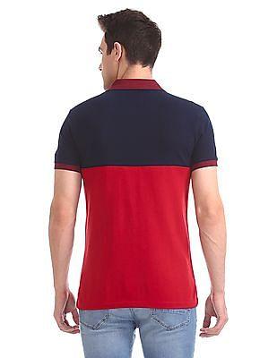 Arrow Sports Regular Fit Colour Block Polo Shirt