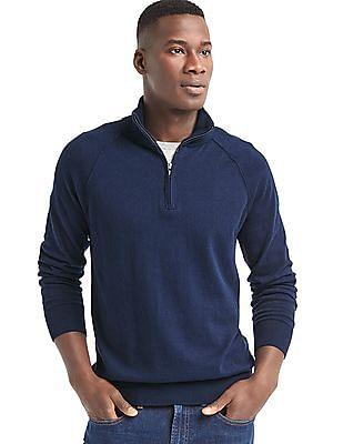 GAP Half Zip Mock Neck Sweater