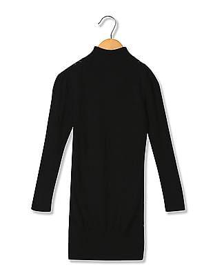U.S. Polo Assn. Kids Turtle Neck Woollen Sweater Dress