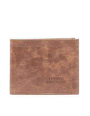 Flying Machine Bi Fold Textured Leather Wallet