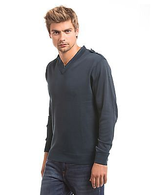 Ed Hardy Regular Fit V-Neck Sweater