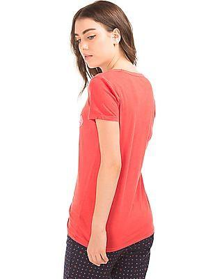 GAP Women Red Foil Logo Tee