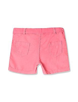 Donuts Pink Girls Belted Corduroy Shorts