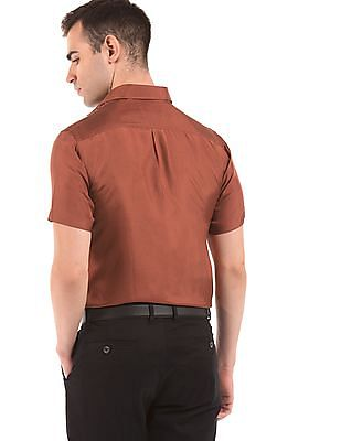 Arrow French Placket Silk Shirt