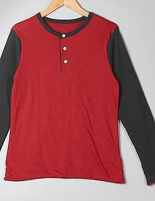 GAP Boys Double Layer Baseball Henley