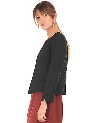 Arrow Woman Regular Fit Open Front Blazer