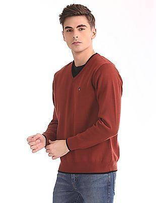 Izod Long Sleeve V-Neck Sweater
