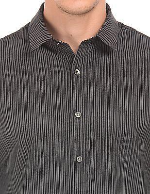 Flying Machine Slim Fit Striped Shirt