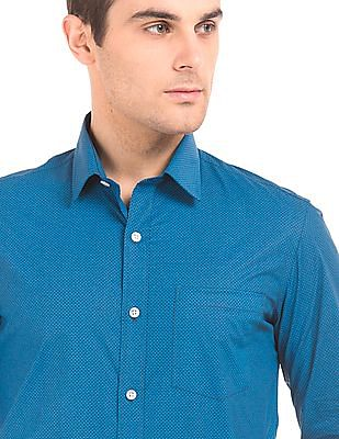 Arrow Printed Slim Fit Shirt