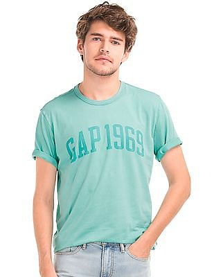 GAP Men Green Tonal Logo T-Shirt