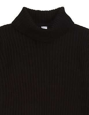 U.S. Polo Assn. Kids Girls Turtleneck Ribbed Knit Sweater