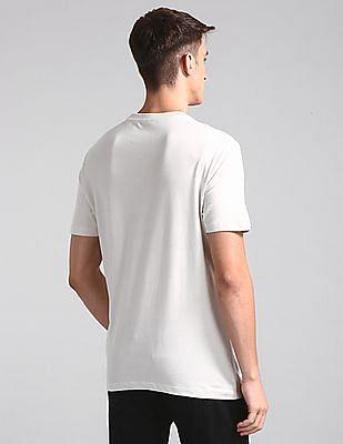 GAP White Brand Print Crew Neck T-Shirt