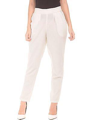 Bronz Elasticized Waist Cotton Pants