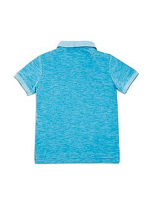 U.S. Polo Assn. Kids Boys Heathered Regular Fit Polo Shirt