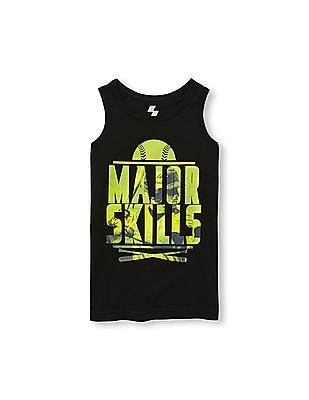 The Children's Place Boys PLACE Sport Sleeveless Ringer Graphic Tank Top