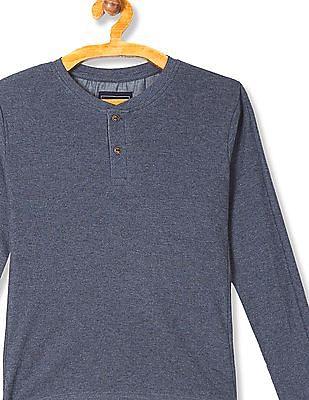 Cherokee Boys Long Sleeve Henley T-Shirt