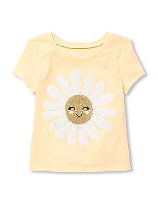 The Children's Place Baby And Toddler Girl Short Sleeve Embellished Top