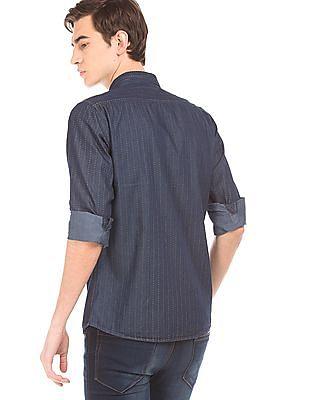 Ruggers Printed Chambray Shirt