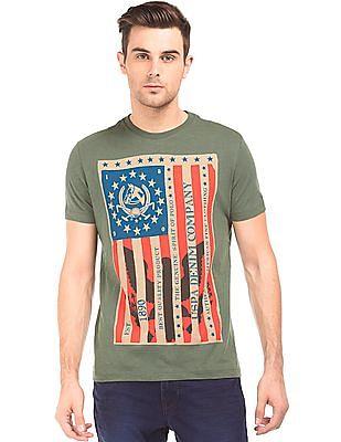 U.S. Polo Assn. Denim Co. Round Neck Muscle Fit T-Shirt