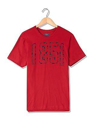 Arrow Sports Round Neck Printed T-Shirt