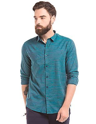 True Blue Space Dyed Slim Fit Shirt