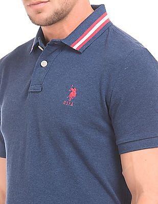 U.S. Polo Assn. Tipped Collar Slim Fit Polo Shirt