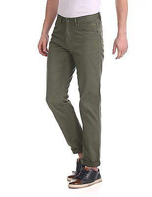 Flying Machine Slim Fit Twill Trousers