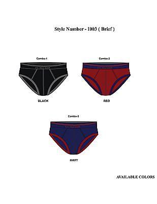 USPA Innerwear Contrast Trim Hip Briefs
