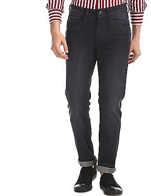 Flying Machine Grey Michael Slim Tapered Fit Dark Wash Jeans