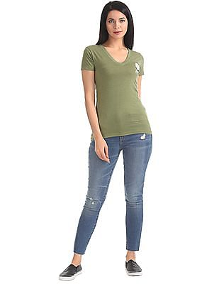 Aeropostale V-Neck Heathered T-Shirt