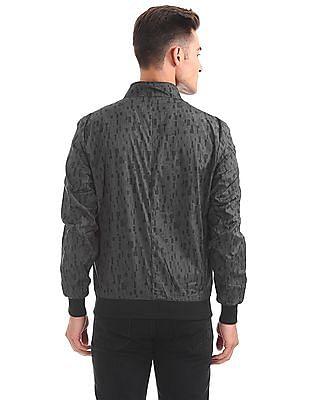 Arrow Newyork Zip Up Printed Jacket